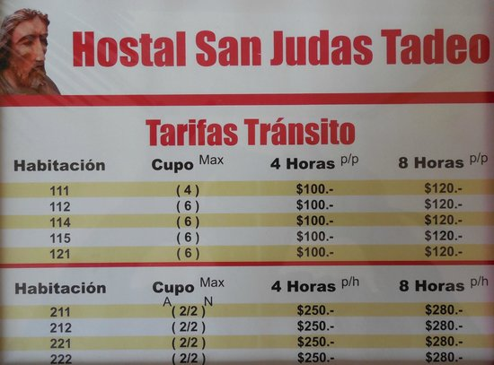 Hostal San Judas Tadeo: тарифы хостела