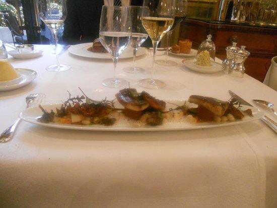 Le Cinq : Anguille et poulpe sauvages grillés