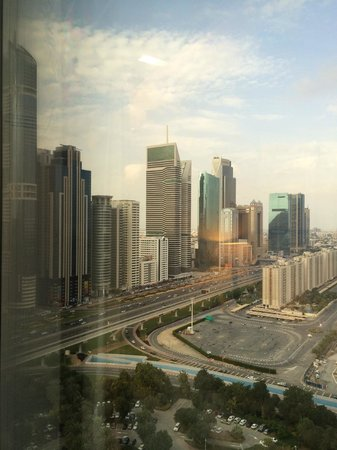 Jumeirah Emirates Towers: View from window (building site cut out)