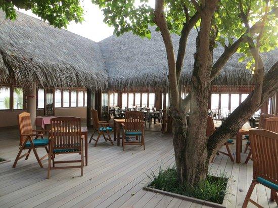 Veligandu Island Resort & Spa : neuer Restaurant-Block