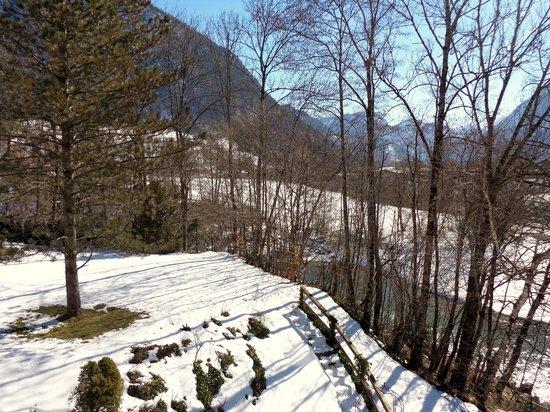 St. Hubertus: Vue prise de notre chambre mars 2013