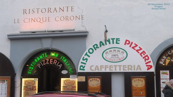 Le Cinque Corone: Very pleasant place to eat