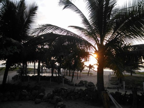 Canoa Beach Hotel: sunset from the hammocks