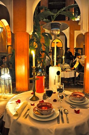 Riad Dar Attajmil: new years eve dinner