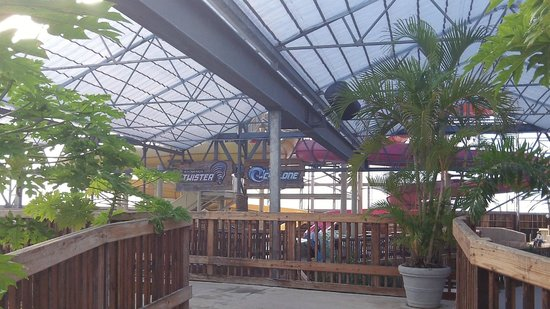 Schlitterbahn Beach Resort: View of the tube rides