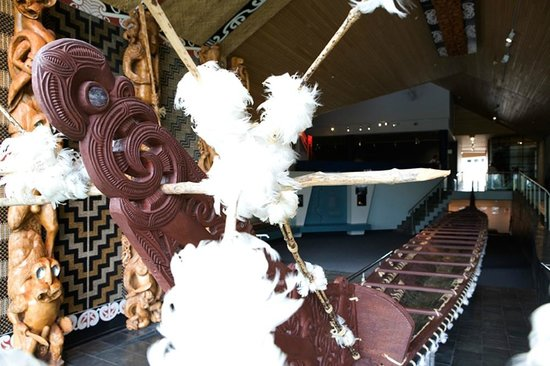 Waikato Museum: The Te Winika gallery is home to a 200 year old waka taua (war canoe)