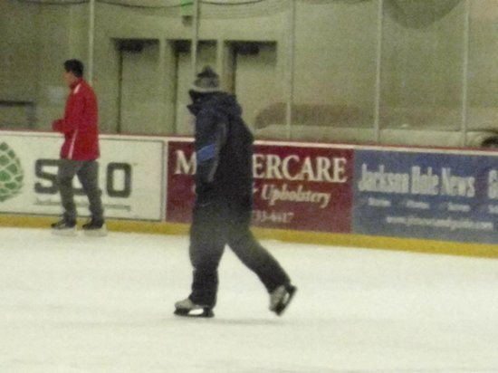 Snow King Mountain : Ice skating at Snow King.