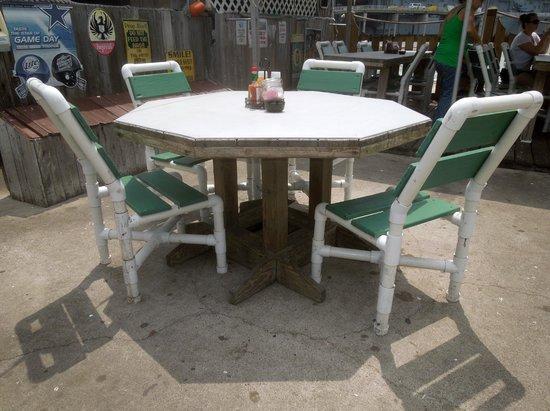 Pier 99: The patio furniture - it's actually pretty comfortable