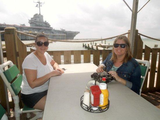 Pier 99: Our view of the USS Lexington