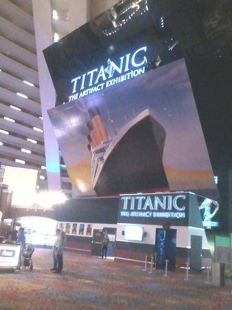 Titanic: The Artifact Exhibition: Exhibit Sign in the Luxor Lobby