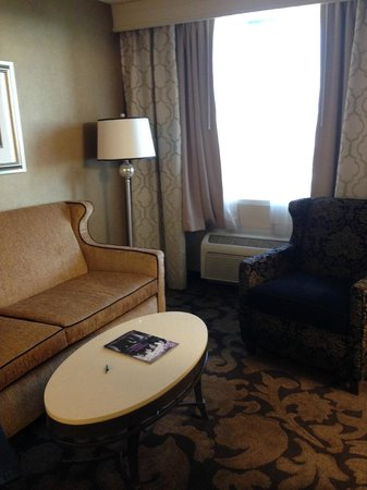 The Orleans Hotel & Casino: View to the window and sitting area