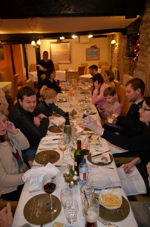 The Bull at Burford: Evening meal for twelve plus children.