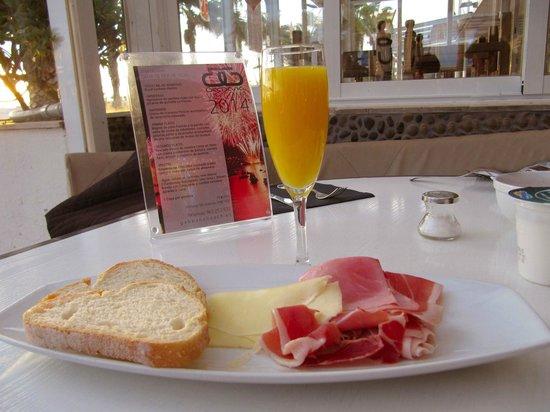 Hotel Boutique Gabbeach: Prima colazione