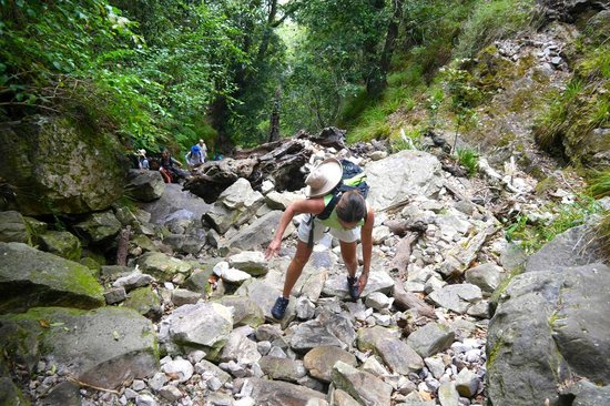 Hike Table Mountain: Scrambling up the toughest part