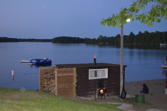 Bay View Lodge : Our famous Sauna heating up!