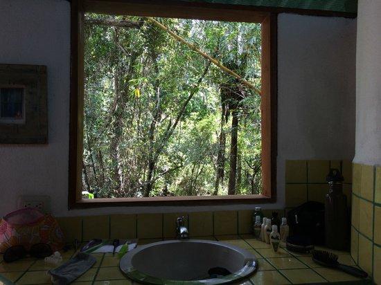 Hacienda del Sol Wellness Centre: How about that bathroom 'mirror'?