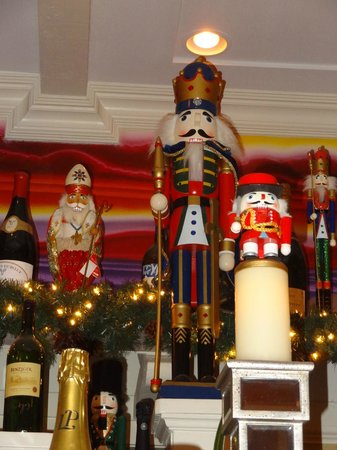 Gemmell's: Nutcrackers added to the cheerful Christmas ambiance.