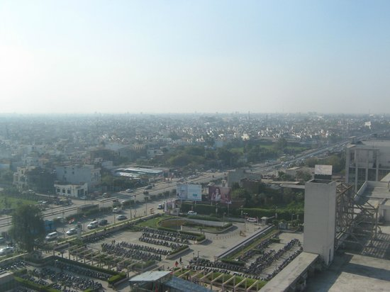 Hyatt Amritsar: View from the 19th floor, facing into Amritsar