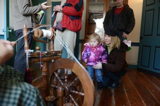 Pennsylvania German Cultural Heritage Center : Interactive Spinning Demonstration at Easter on the Farm.
