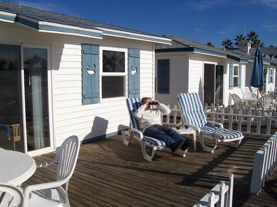 Crystal Pier Hotel & Cottages : Deck of Cottage #15