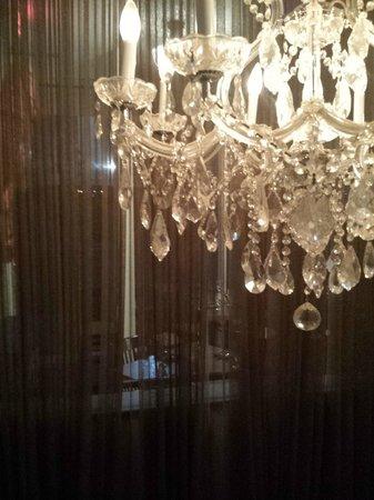 The Hotel Modern : chandelier in lobby