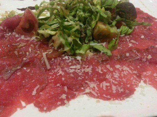 Restaurant Cote' Court : Carpaccio of beef