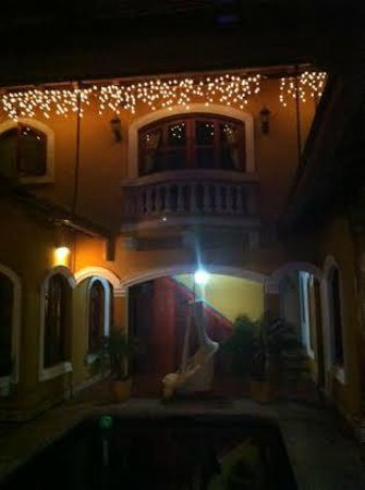 Casa del Agua: View of Baclony Room at night