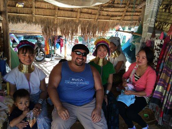 Karen village: me and some villagers