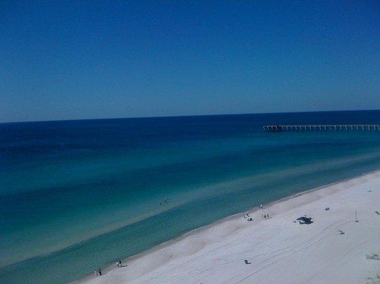 Aqua: calm and beautiful blue water