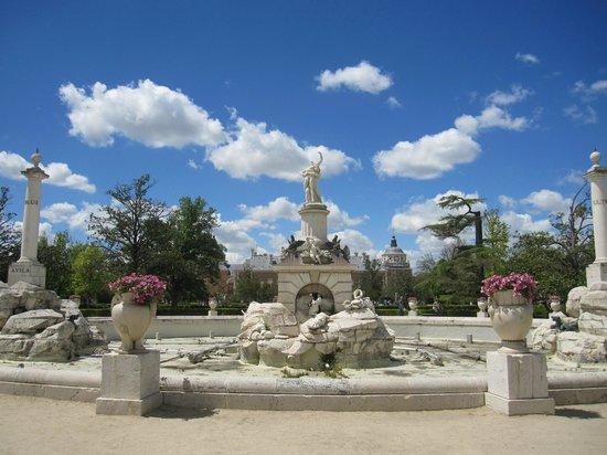 Fuente de Hercules y Anteo : Vista de la fuente.