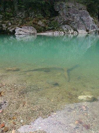 Ryuokyo Canyon : 水は乳白色