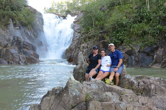Gaia Riverlodge: Our hike down to Big Rock Falls - worth the hike!