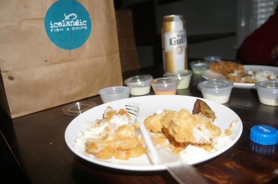 Posh fish and chips picture of icelandic fish chips for Icelandic fish and chips