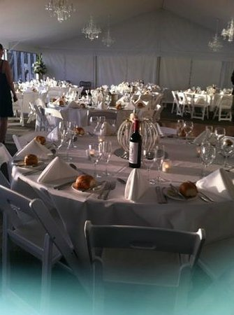 Ripples on the Lake : inside our marquee