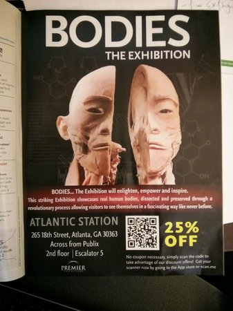 Bodies... the Exhibition Atlanta at the Premier Exhibition Center: Ad page from 'Where: Atlanta' January 2014 issue