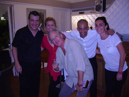 Astrolabe : Host Rodrigo on the left, waiter Chris in white shirt & owner Tom bent over