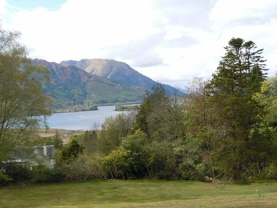 A beautiful view of Loch Leven from the grounds of Glencoe House