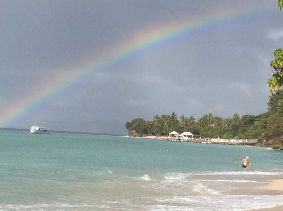 Luxury Bahia Principe Cayo Levantado Don Pablo Collection: rainbow over the bay
