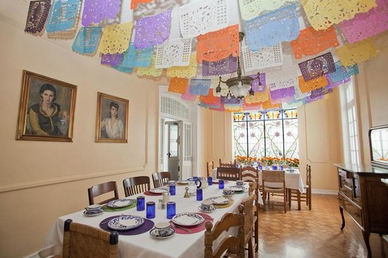 Hotel Casa Gonzalez : Main Dining Room With Christmas decorations