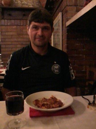 Ristorante Taverna Lino: Lasanha do Garfield...