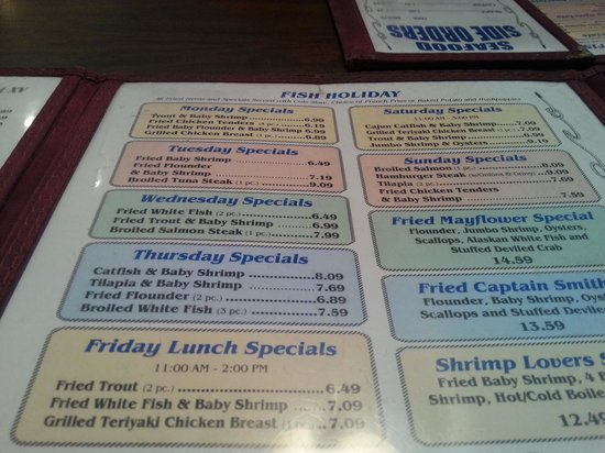 Rocky Mount, Carolina del Nord: Daily Specials