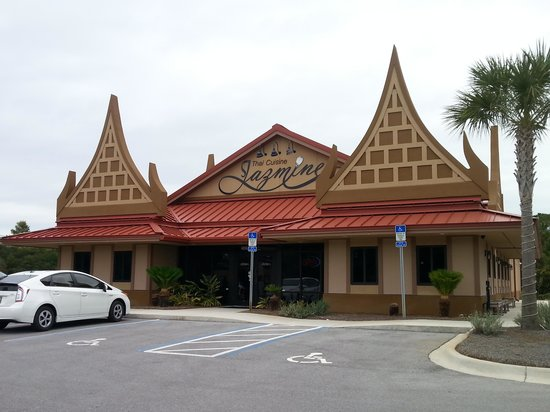 Jazmine Thai Cuisine - Panama City Beach : You can't miss the exterior of the building