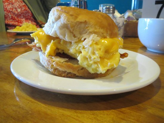 Shipwreck Grill: Bacon, Egg, and Cheese on a House-made biscuit