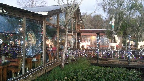 Christmas decorations picture of clark 39 s fish camp for Fish camp jacksonville