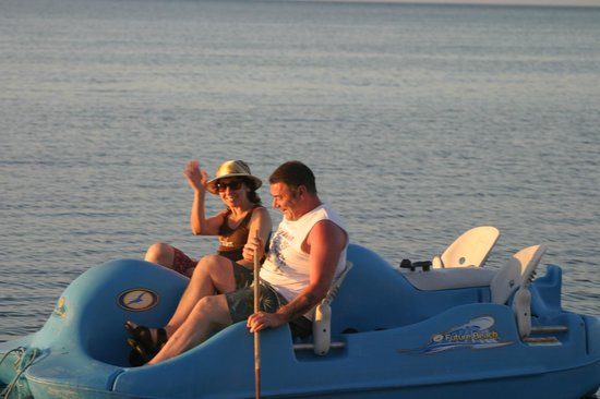 Gulf View Waterfront Resort: paddle boater
