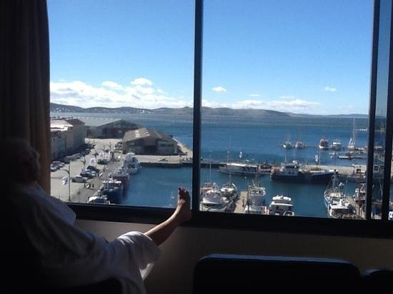 Grand Chancellor Hotel Hobart : overlooking the harbour and bay.
