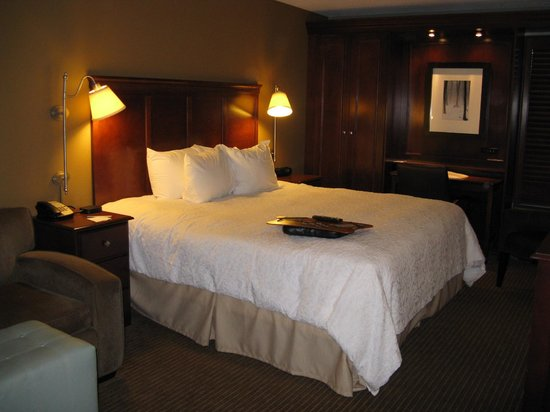 Hampton Inn Traverse City -- comfortable king bed
