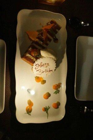 Buddakan: Complementary birthday desert - thanks.