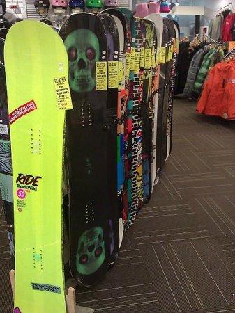 TCB Ski Board and Bike: Snowboard retail
