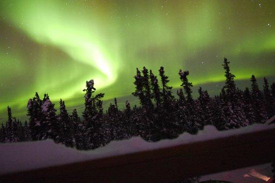 Aurora Borealis Lodge: Aurora display December 29, 2013